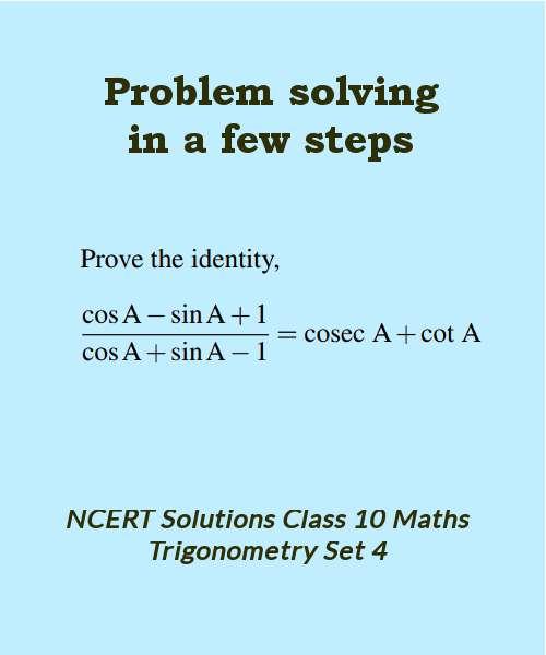 ncert solutions class 10 maths trigonometry set 4