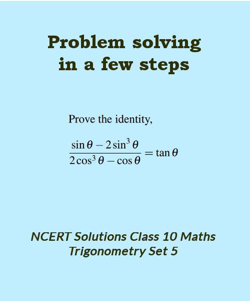 ncert solutions class 10 maths trigonometry set 5