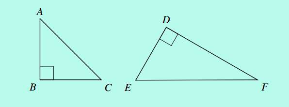 right angled triangles