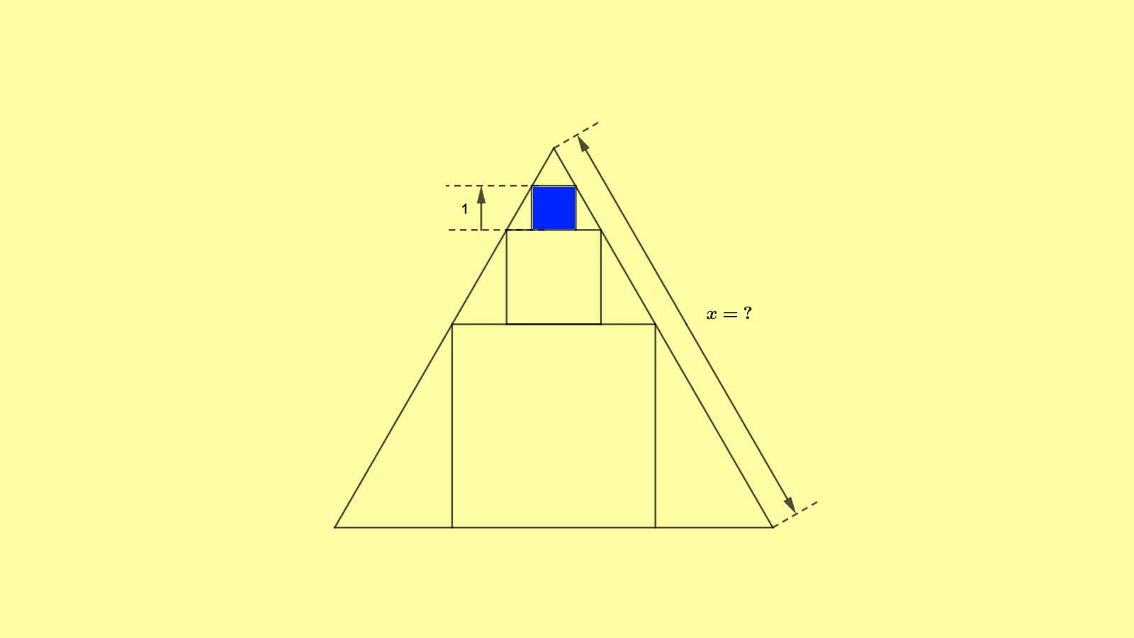 solve three squares in a triangle puzzle