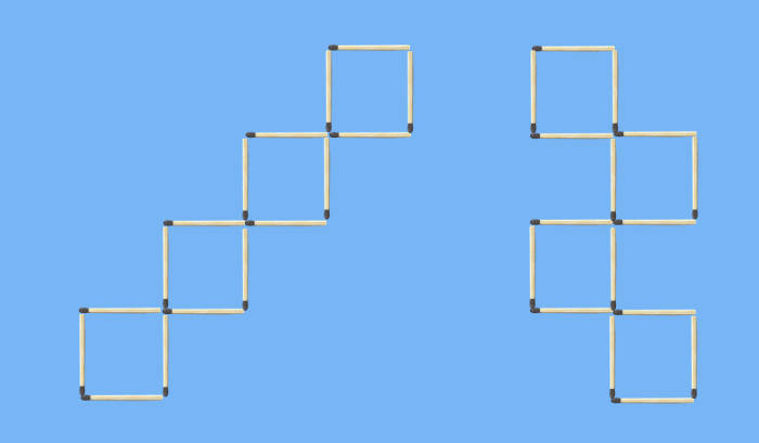 two possible 4 squares with 16 sticks