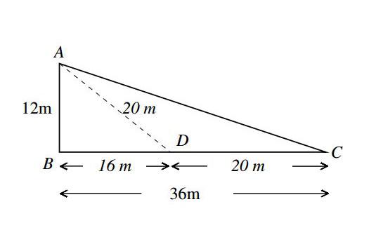 UGC/CSIR Net level Maths Solution set 4 triangle Q4