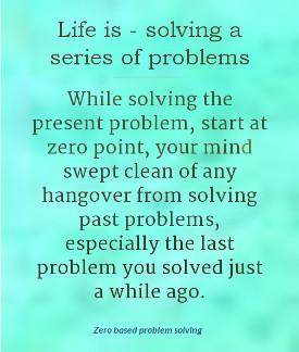 zero based problem solving