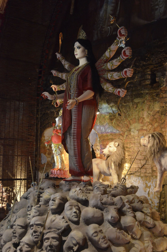 Durga different view exuding power